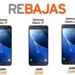 El Samsung Galaxy J7 2016 bajó de precio en Simyo