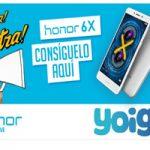 El Honor 6X ya está en Yoigo a 0% de pago inicial