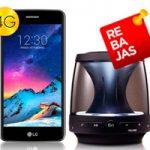 Llévate un LG K8 2017 + altavoz LG PH1 a sólo 1,50 euros al mes con tu paquete Jazztel de fibra óptica