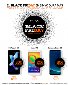 Black Friday descuentos Simyo