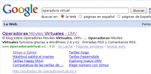 Operadora Virtual en Google
