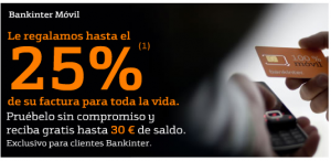 Hasta 30 euros de saldo gratis con Bankinter Móvil