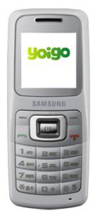 Imagen del Samsung SGH b130 de color blanco con Yoigo
