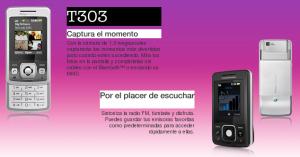Sony Ericsson t303 libre con Simyo