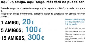 Imagen de la promoción de Yoigo para traer móviles a Yoigo