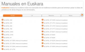 Euskaltel traduce manuales a Euskera de móviles