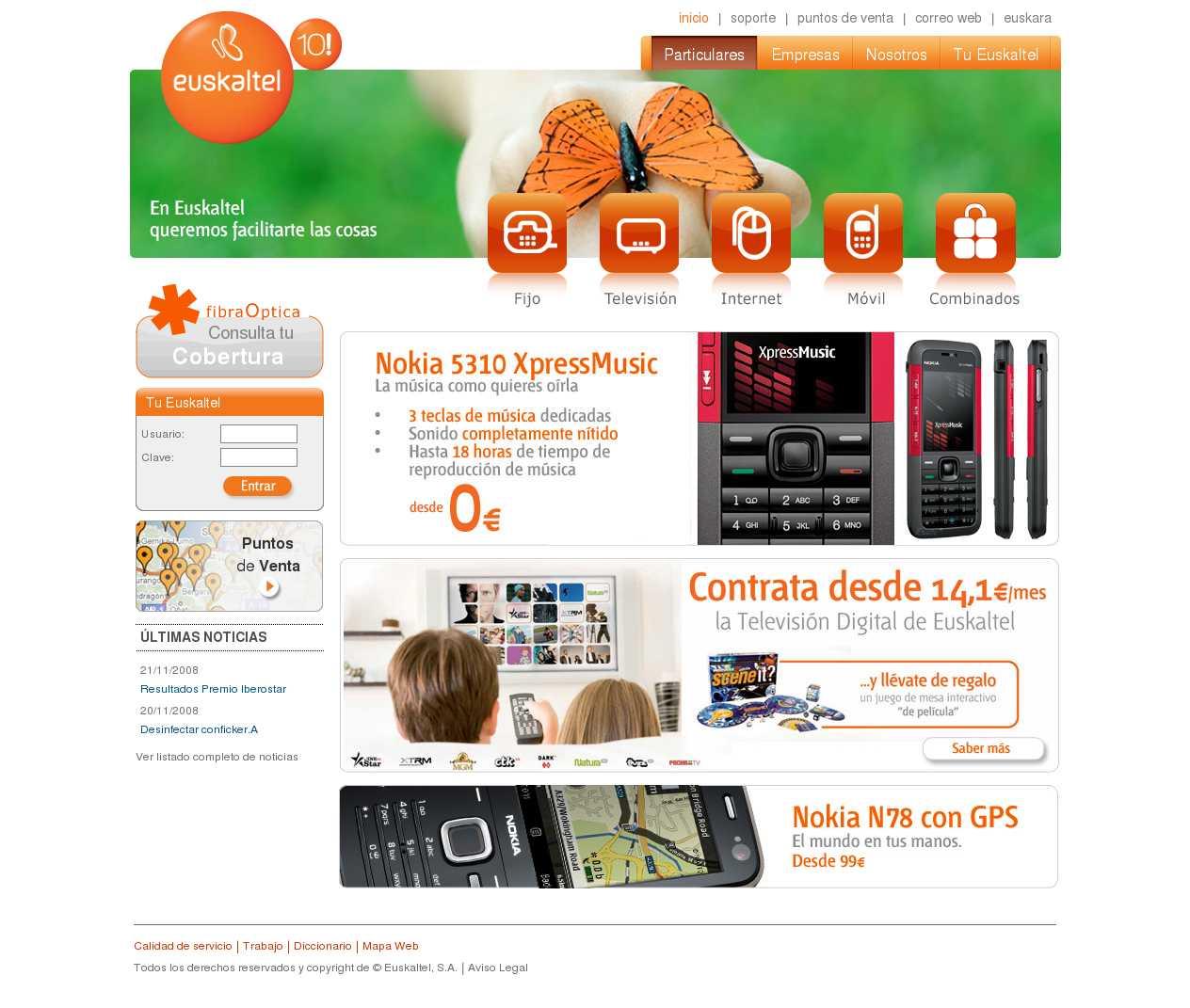 Telefonia movil euskaltel renueva su web viva mobile euskaltel - Web oficina euskaltel ...