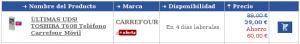 Toshiba TS 608 en Carrefour Online