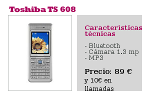 Toshiba TS 608 Carrefour Móvil