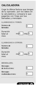Calculadora Yoigo
