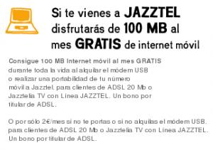 100 megas de Internet Móvil al mes gratis