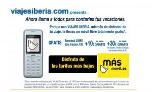 Imagen promoción Másmovil con viajes Iberia