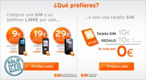 Móviles baratos Simyo libres