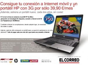 Contratando Internet Móvil de Pepephone, HP gratis