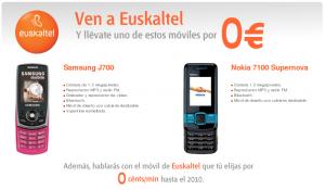 euskaltel,samsung,j700,nokia,7100,gratis