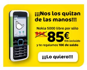 Nokia 5000 ahora por 85 euros con MÁSmovil