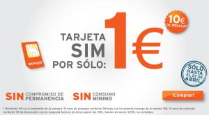 Tarjeta SIM de Simyo a 1 euro