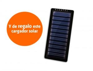 Cargador solar Alcatel de Euskaltel