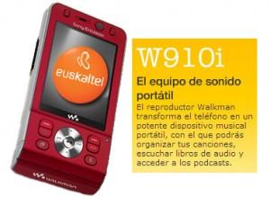 Sorteo de Sony Ericsson W910i con El Correo y Euskaltel
