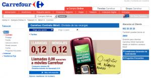 Nueva web de Carrefour Móvil