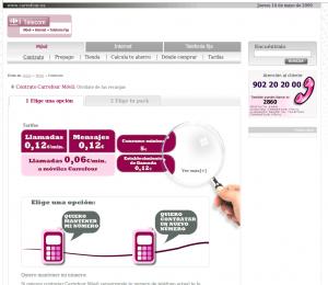 Web Antigua de Carrefour Móvil
