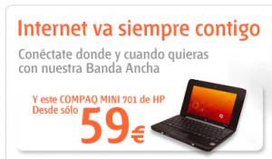 Mini portátil que ofrece Euskaltel