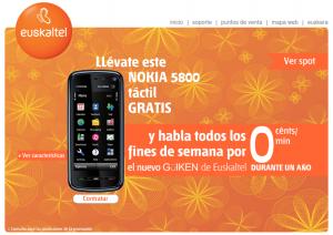Nokia 5800 con Euskaltel