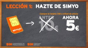 Promoción 5 euros de Simyo