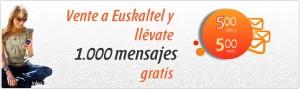 Promoción Euskaltel con SMS y MMS gratis