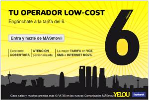 Web adaptada a la tarifa del 6 de MÁSmovil