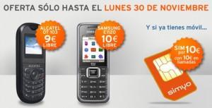Alcatel OT 103 o Samsung E 1120 de Simyo