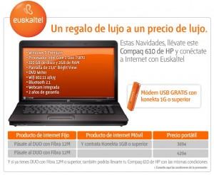 Portátil de la promoción de Euskaltel