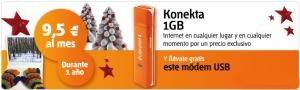 Konekta 1 GB de Internet Móvil