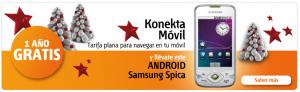 Promoción konekta móvil Euskaltel con Android Samsung Spica