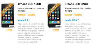 iPhone 3GS con mobil R