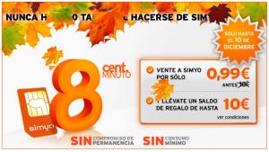 Imagen de la promoción Simyo de otoño