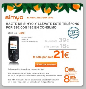 Nokia 1661 4.5 euros al mes
