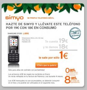 Samsung E1120 con Simyo