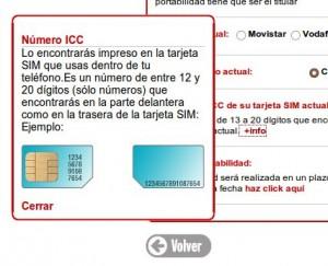 Copiamos los números de nuestra tarjeta SIM actual