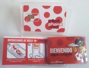 Estuche con la tarjeta SIM de Pepephone e instrucciones