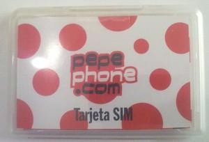Tarjeta SIM de Pepephone