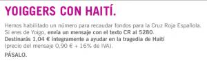 Yoigo también con Haití
