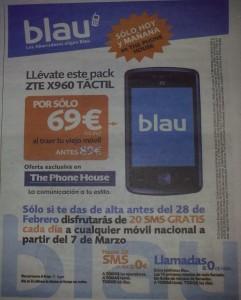 Blau ZTE x960