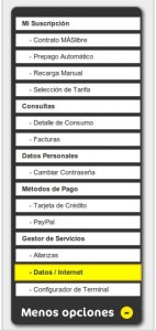 Datos internet de MÁSmovil