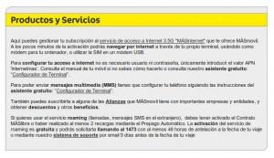 Click en Productos y servicios de MÁSmovil