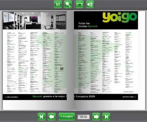 Revista de la distribuidora de Yoigo Bymovil