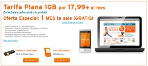 Simyo tarifa plana 1 GB