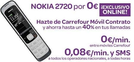 Nokia 2720 gratis con Carrefour Móvil